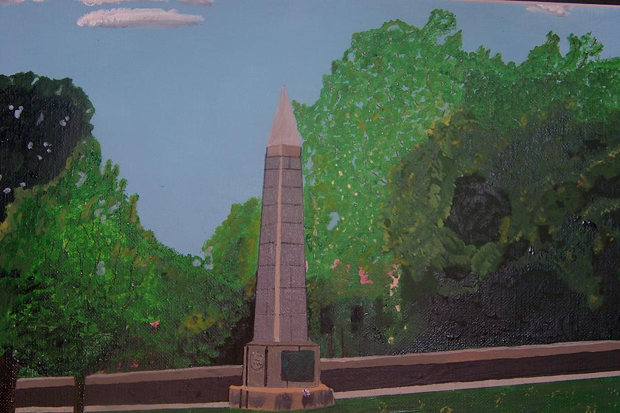 Monument Of The Revolutionary War Of 1776 Painting