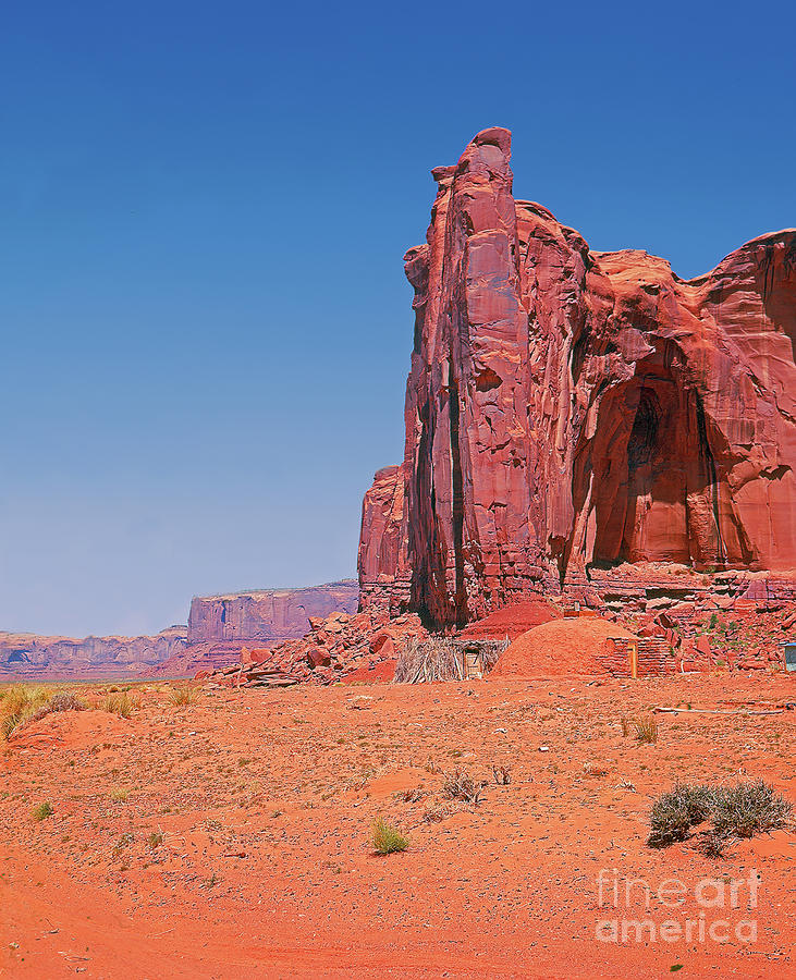 Arizona Photograph - Monument Valley Elrphant Butte And Hogan by Rich Walter