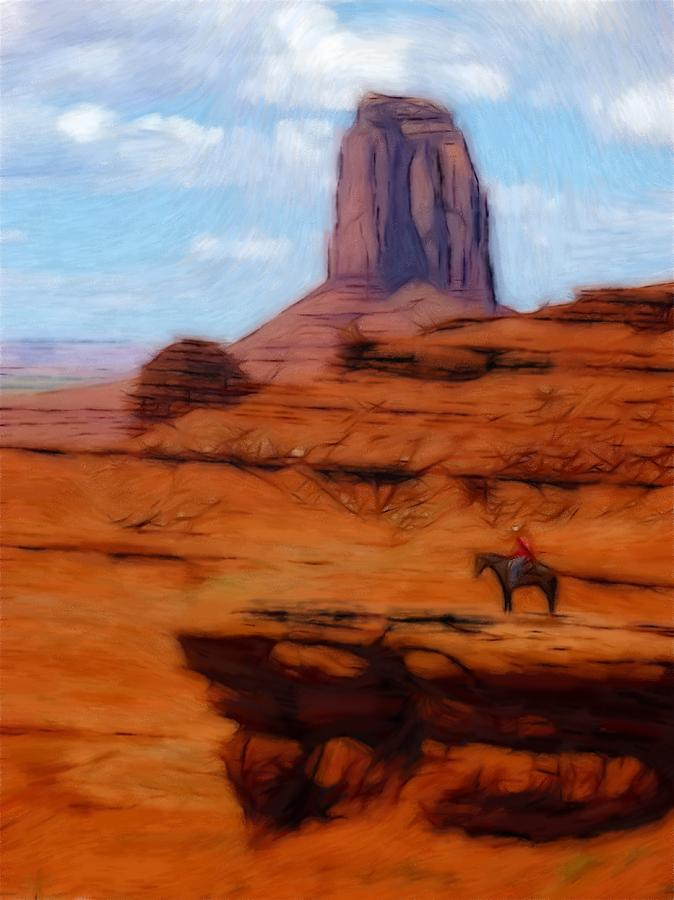 Monument Valley Pastel Pastel  - Monument Valley Pastel Fine Art Print