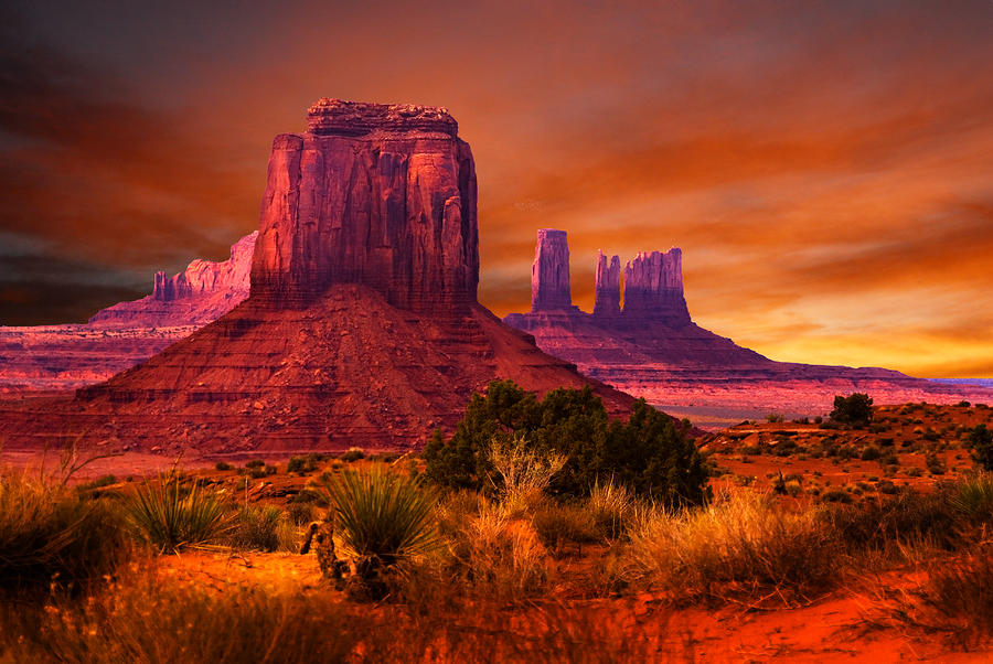 Monument Valley Sunset Photograph  - Monument Valley Sunset Fine Art Print