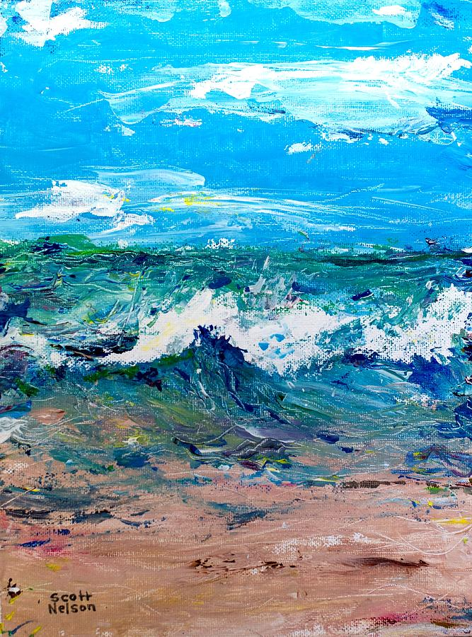 Moody Beach In A Mood Painting