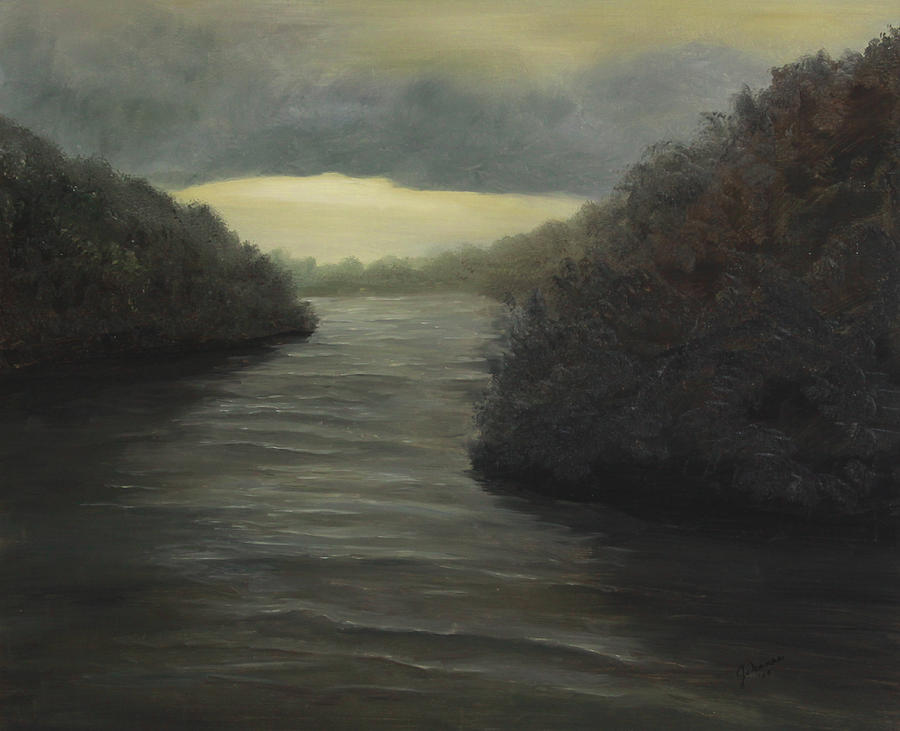 Moody River Painting