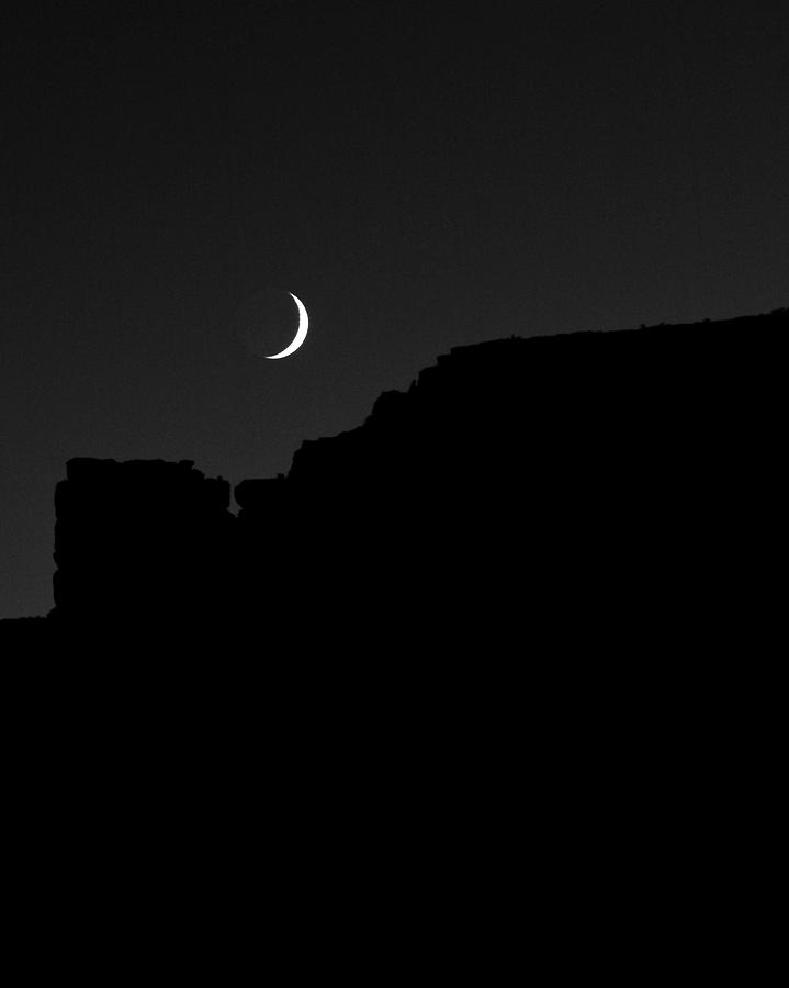 Astronomy Photograph - Moon Cedar Mesa Utah by Troy Montemayor
