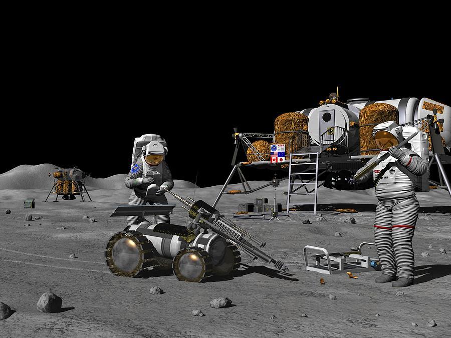 Moon Exploration, Artwork Photograph