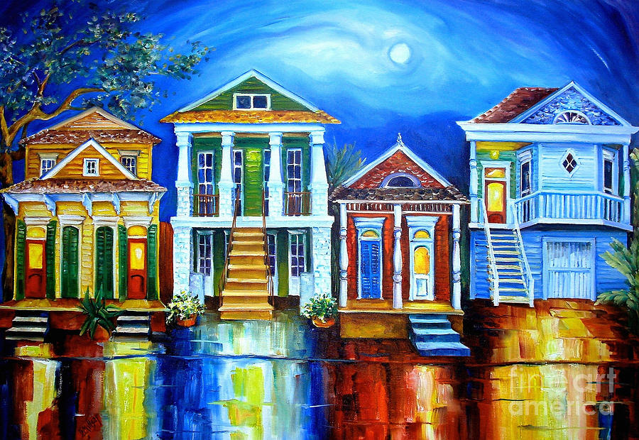 Moon Over New Orleans Painting