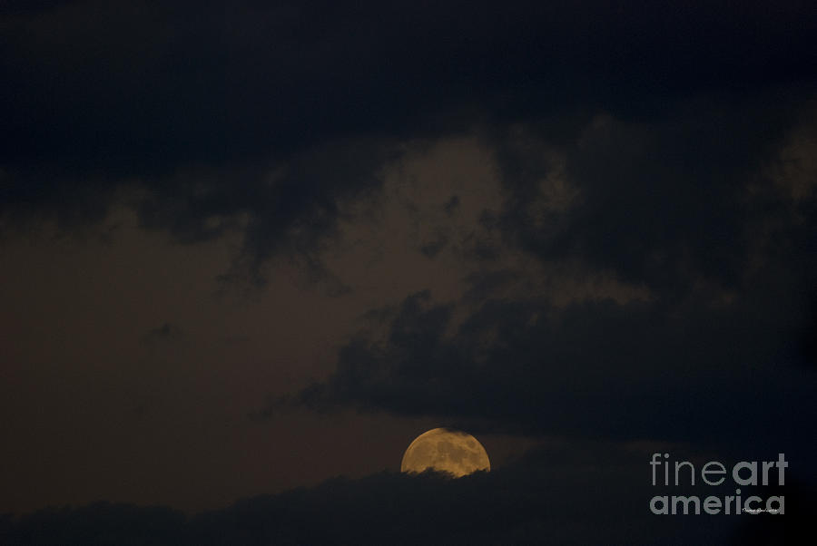 Full Moon Photograph - Moon Rising 03 by Thomas Woolworth
