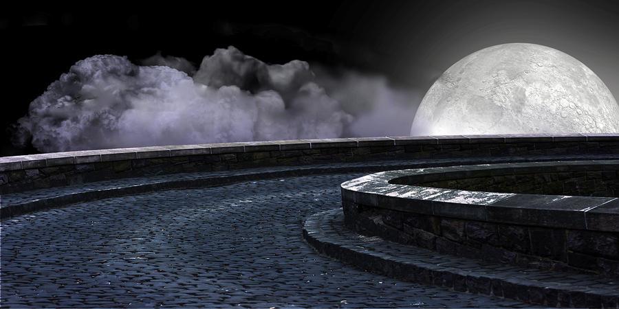 Moon Road 2 Digital Art