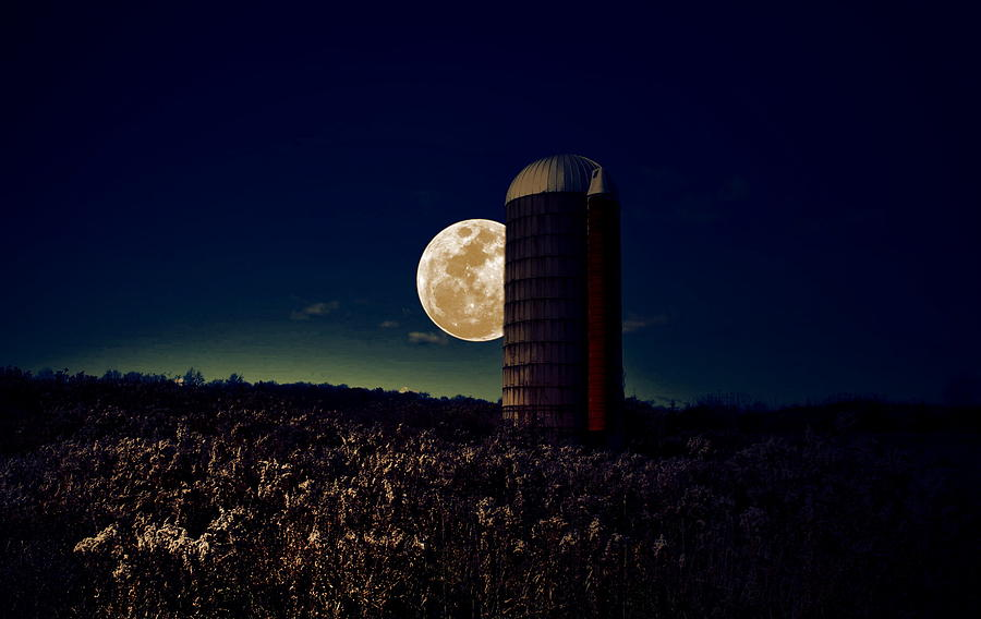 Moon Photograph - Moon Silo by Emily Stauring