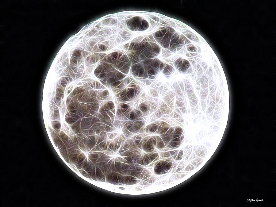 Moon Mixed Media  - Moon Fine Art Print