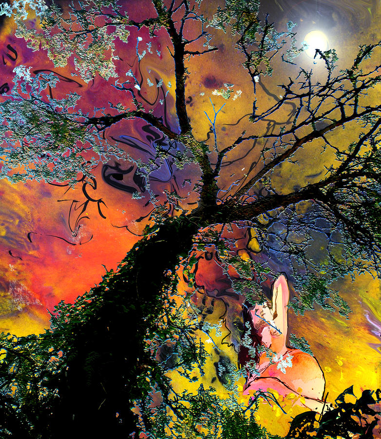 Moonbathing Painting  - Moonbathing Fine Art Print