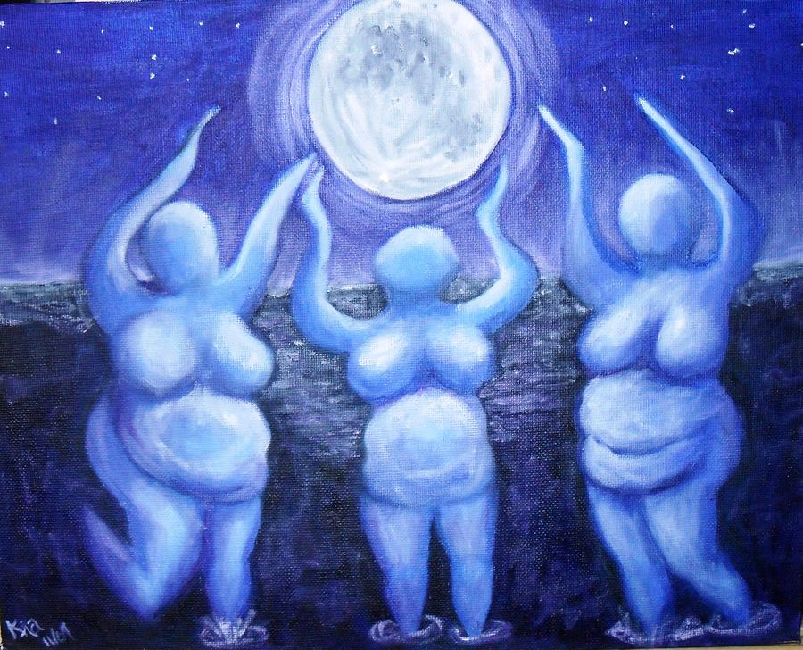 Moonlight Dancers Painting