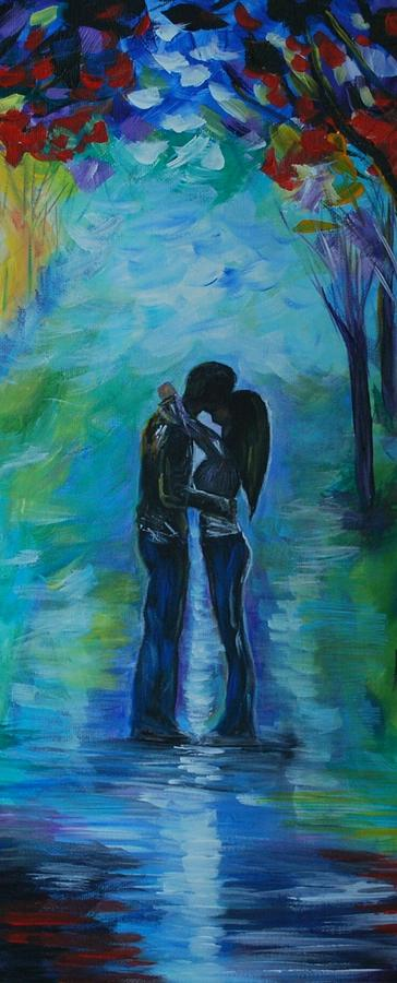 Moonlight Kiss Series 1 Painting  - Moonlight Kiss Series 1 Fine Art Print
