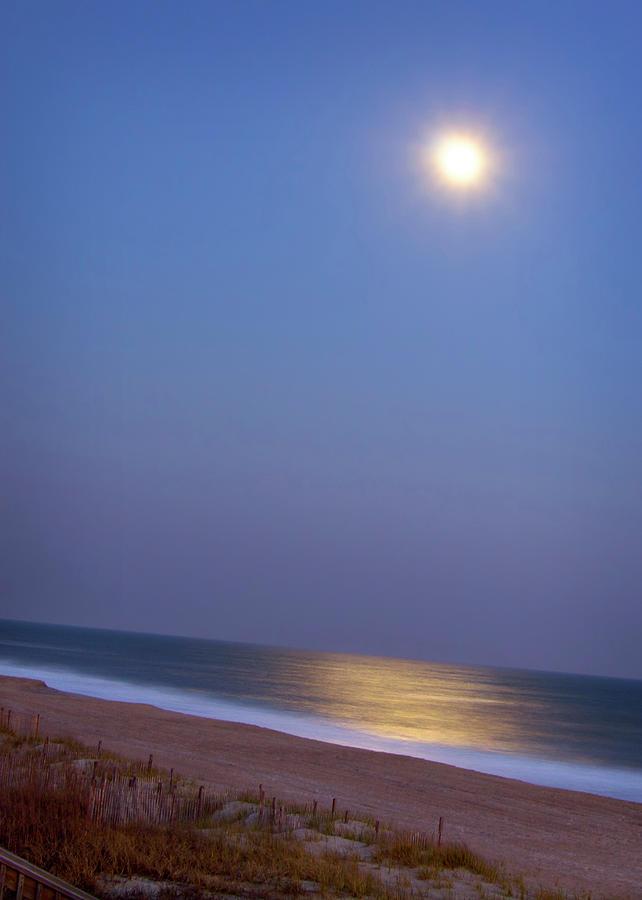 Vertical Photograph - Moonlight On Ocean by Doris Rudd Designs, Photography