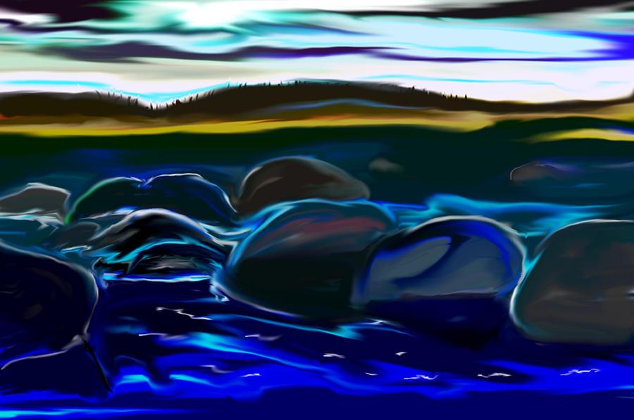 Moonlight On Superior Digital Art