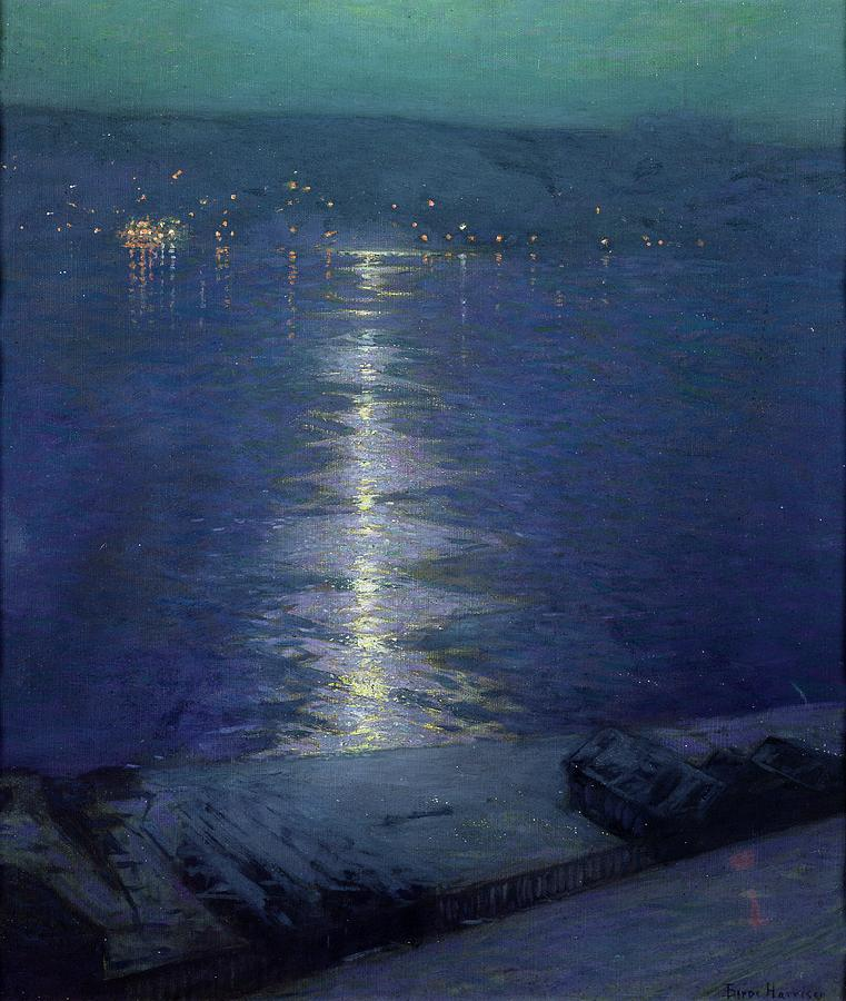 Moonlight On The River Painting