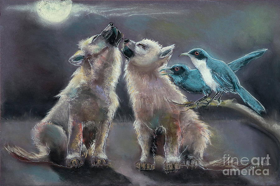 Moonlight Serenade Painting  - Moonlight Serenade Fine Art Print