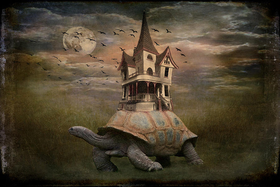 Moonlight Traveler Digital Art  - Moonlight Traveler Fine Art Print