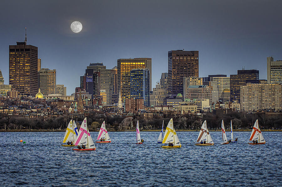 Moonlit Sailing Photograph