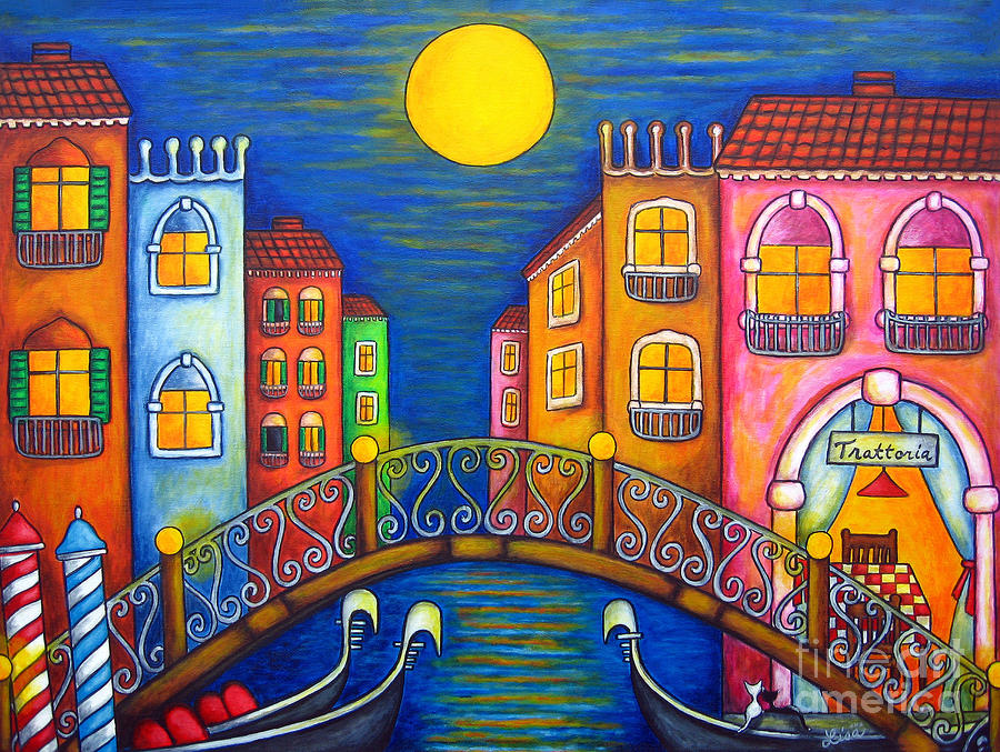 Moonlit Venice Painting  - Moonlit Venice Fine Art Print