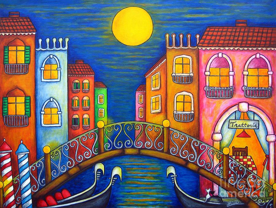 Moonlit Venice Painting