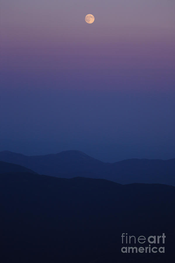 Moonrise - Mount Washington New Hampshire  Photograph