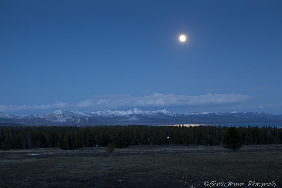 Moonrise At Fishing Bridge Photograph