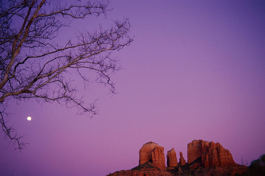 Moonrise Over Oak Creek Canyon Photograph  - Moonrise Over Oak Creek Canyon Fine Art Print