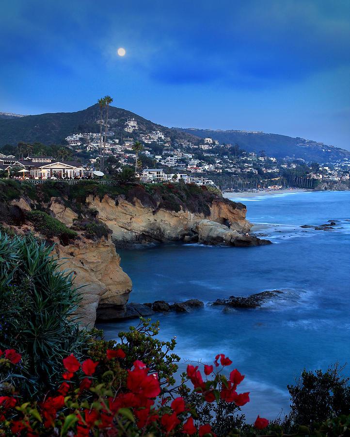 Moonrise Over Treasure Island Beach Photograph