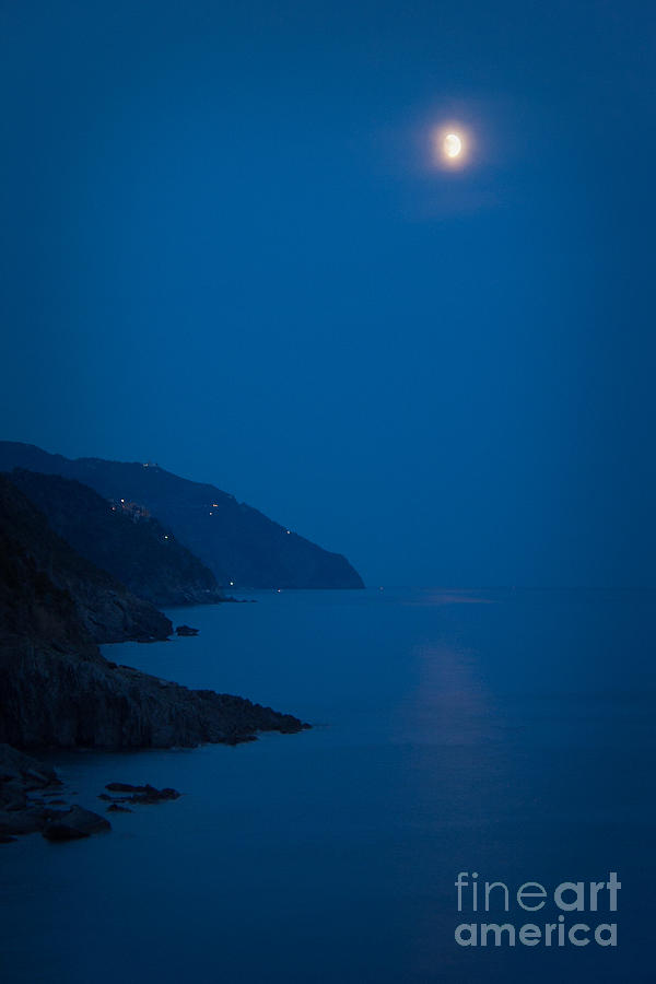 Moonrise Over Vernazza Photograph