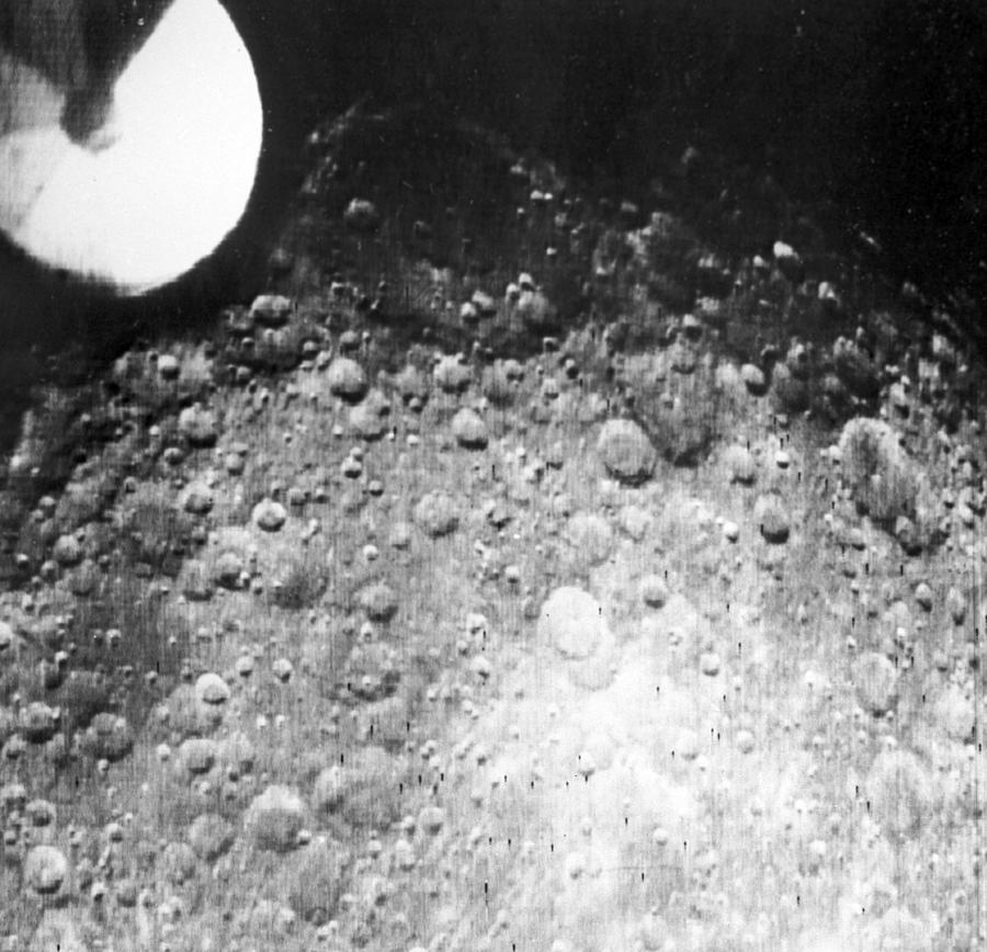 Moon Photograph - Moons Surface, Zond 3 Image by Ria Novosti
