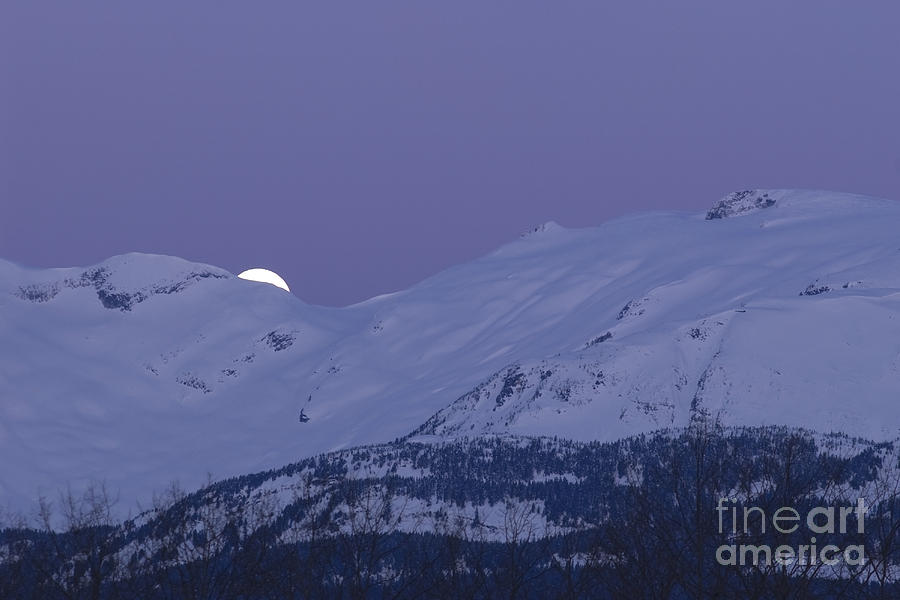 Moonset Photograph