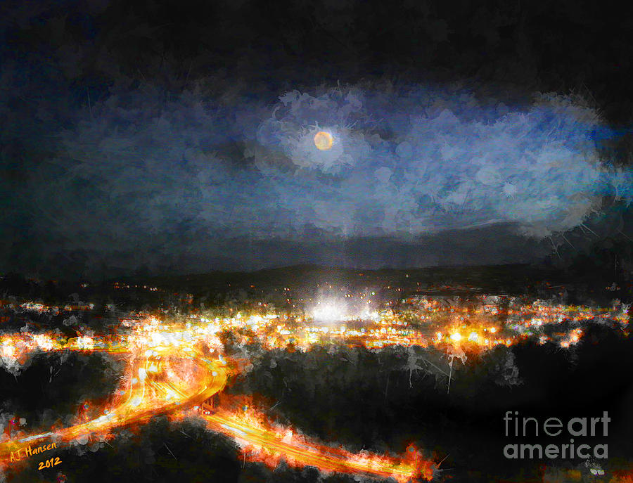 Moonshine Over Prescott Photograph