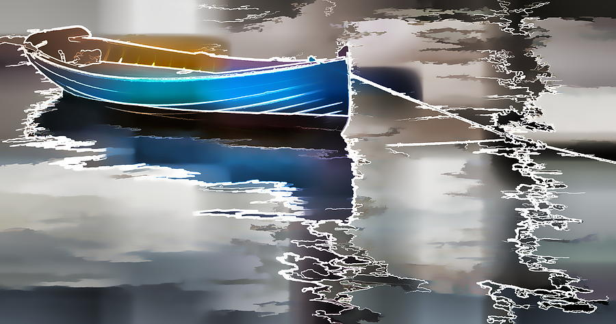 Boat Moored Water Photograph - Moored by Alice Gipson