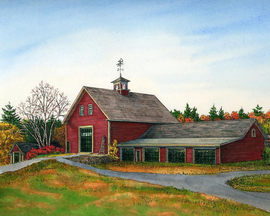 Moose Hill Barn Painting  - Moose Hill Barn Fine Art Print