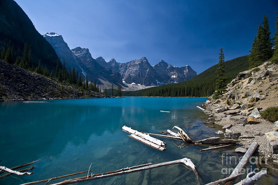 Moraine Lake And The Valley Of The Ten Photograph