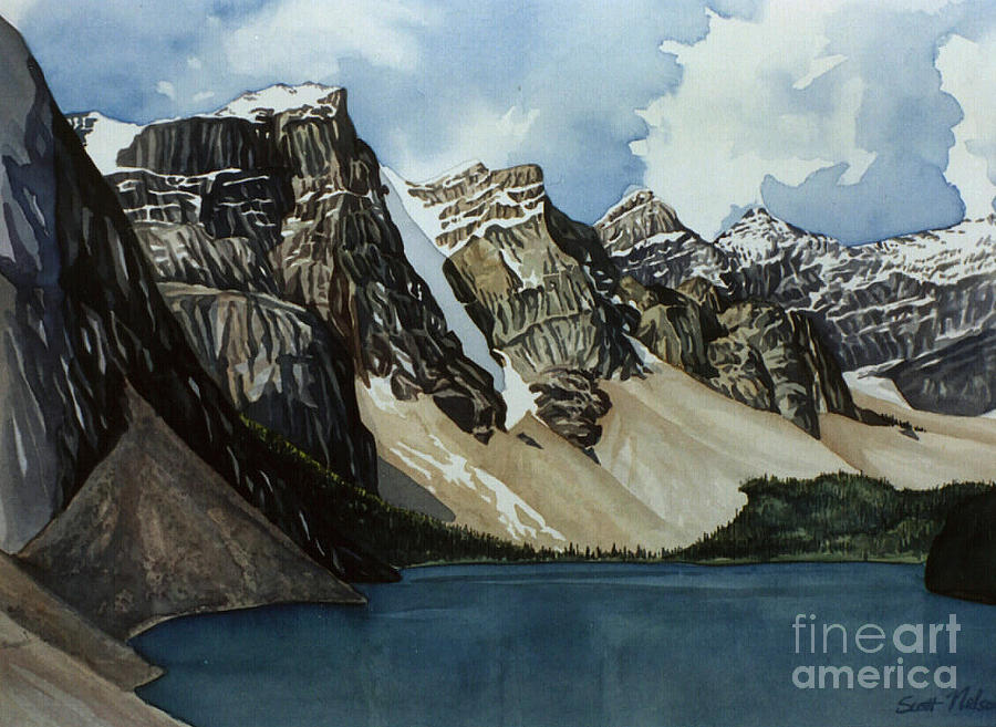 Moraine Lake Painting  - Moraine Lake Fine Art Print