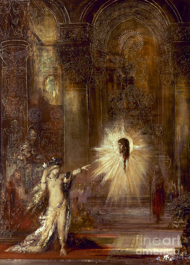 Moreau: Apparition, 1876 Painting  - Moreau: Apparition, 1876 Fine Art Print
