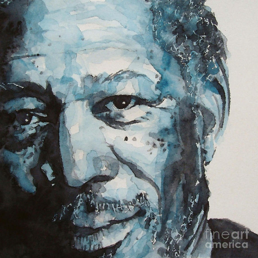 Morgan Freeman Painting  - Morgan Freeman Fine Art Print