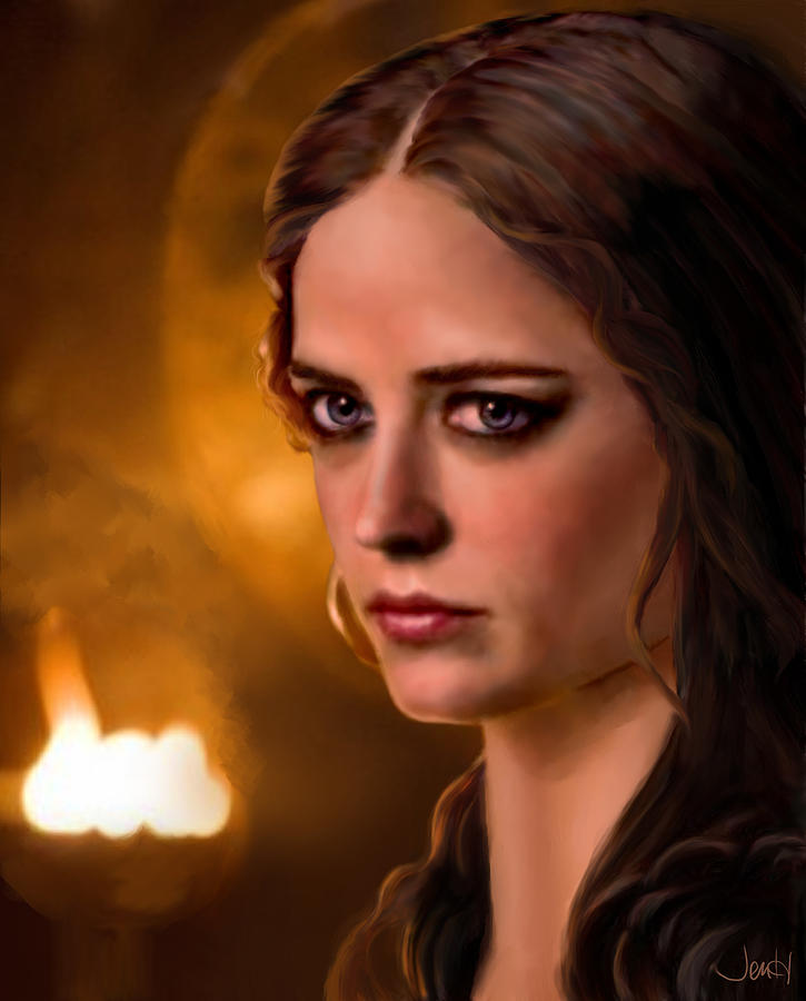 Morgan Pendragon Eva Green Painting  - Morgan Pendragon Eva Green Fine Art Print