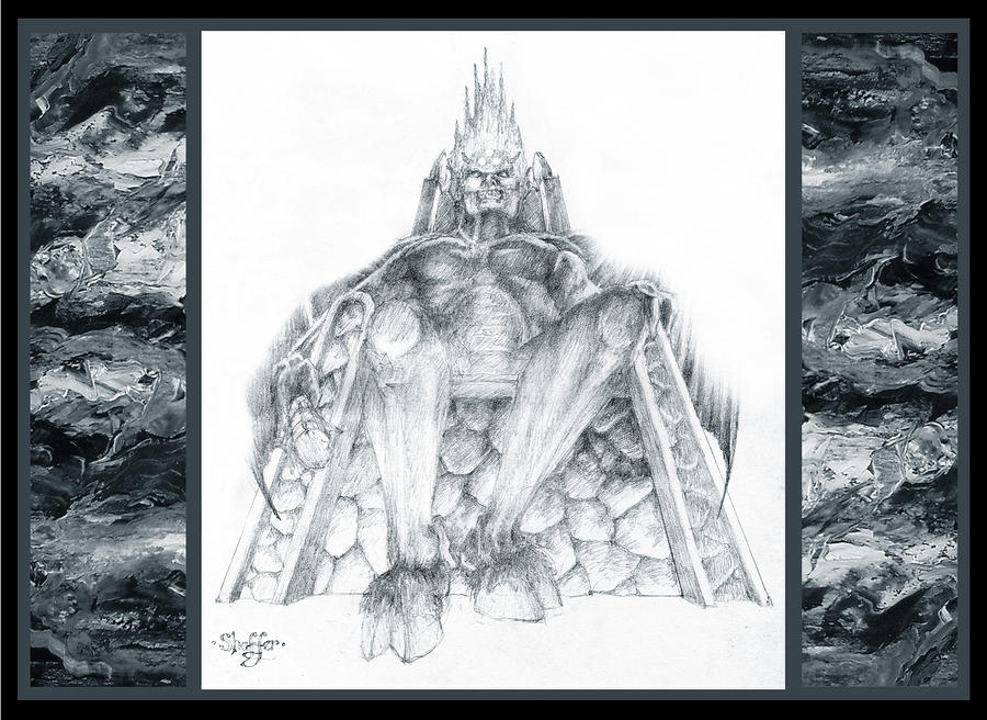Morgoth Bauglir Drawing  - Morgoth Bauglir Fine Art Print