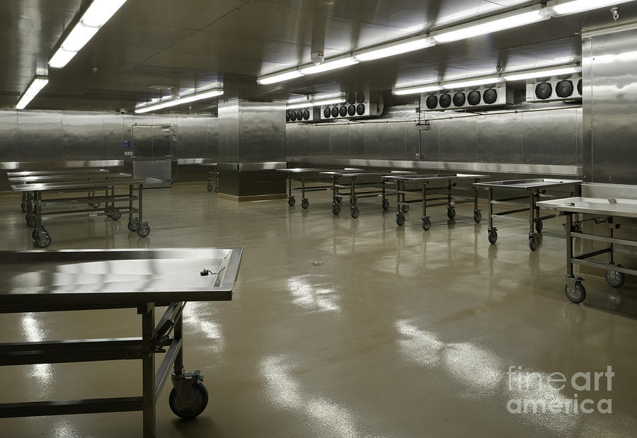 Morgue Interior Photograph  - Morgue Interior Fine Art Print