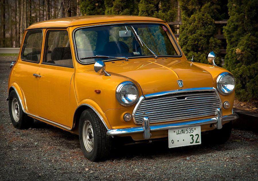 Moris Mini Cooper Photograph  - Moris Mini Cooper Fine Art Print