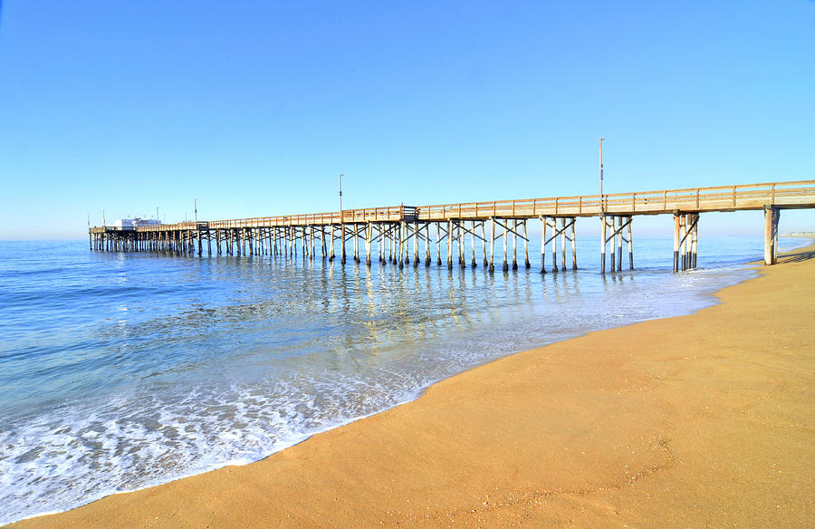 Morning Balboa Pier Photograph  - Morning Balboa Pier Fine Art Print