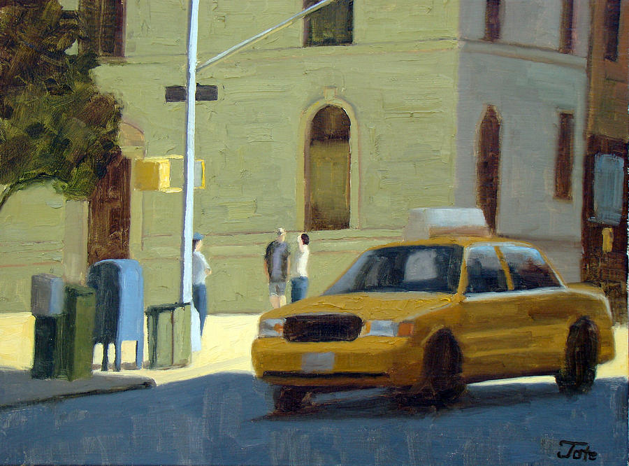 Morning Cab Painting  - Morning Cab Fine Art Print