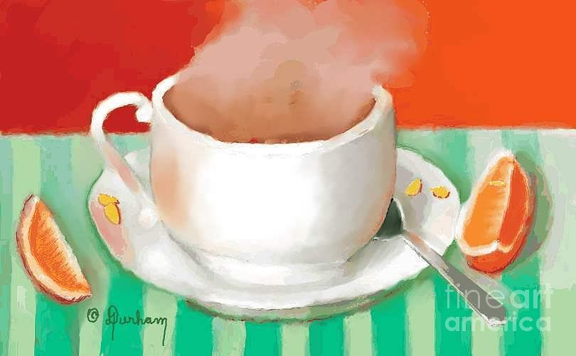 Morning Coffee Digital Art  - Morning Coffee Fine Art Print