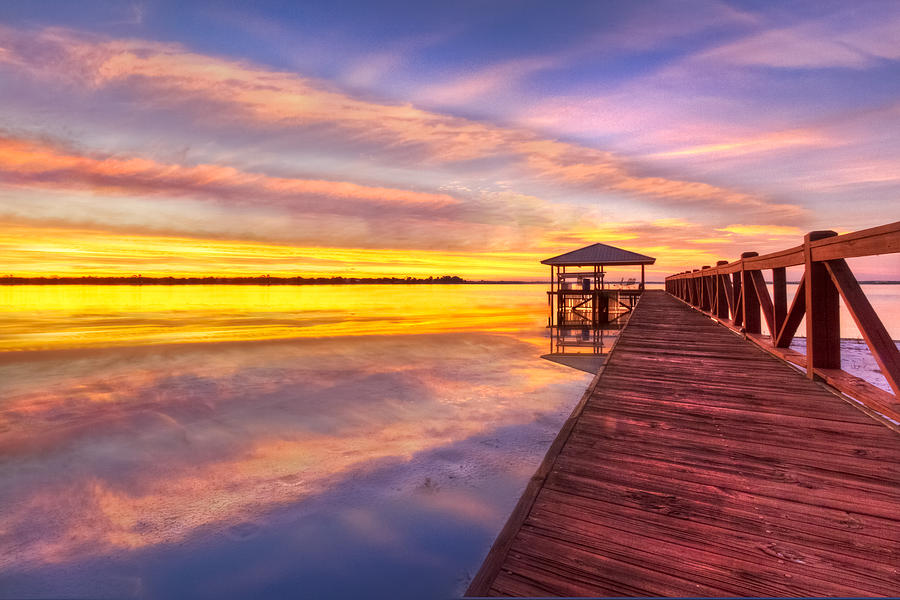 Morning Dock Photograph  - Morning Dock Fine Art Print