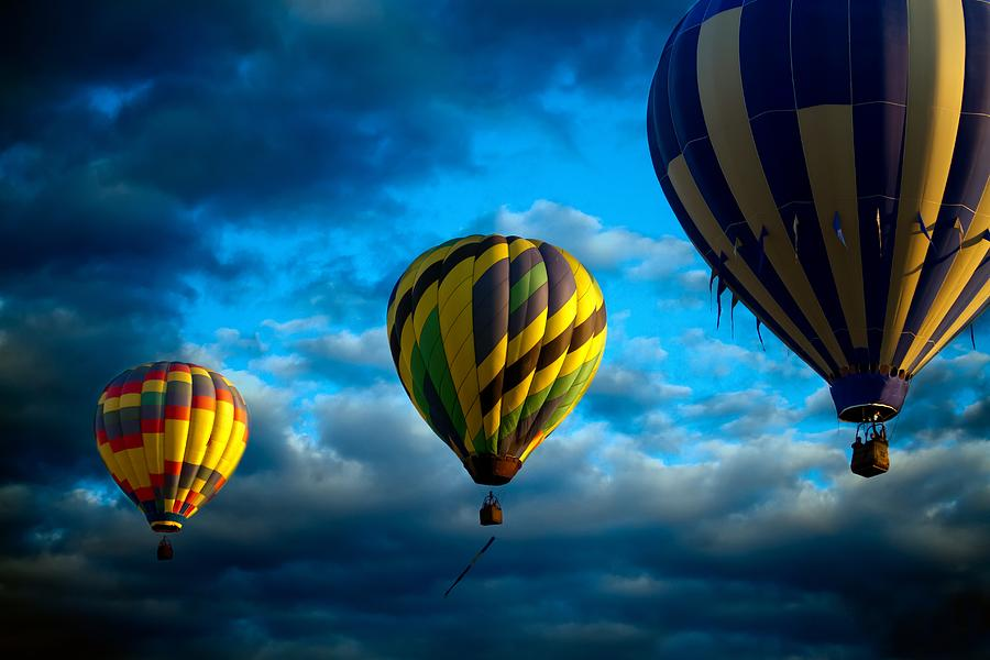 Morning Flight Hot Air Balloons Photograph  - Morning Flight Hot Air Balloons Fine Art Print