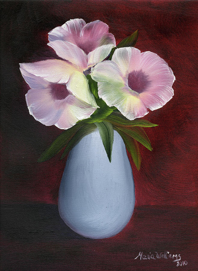 Morning Glories Painting  - Morning Glories Fine Art Print