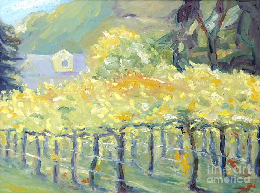 Morning In Napa Valley Painting
