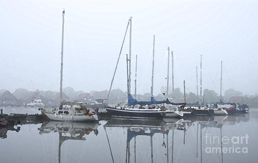 Morning In The Harbor Painting  - Morning In The Harbor Fine Art Print